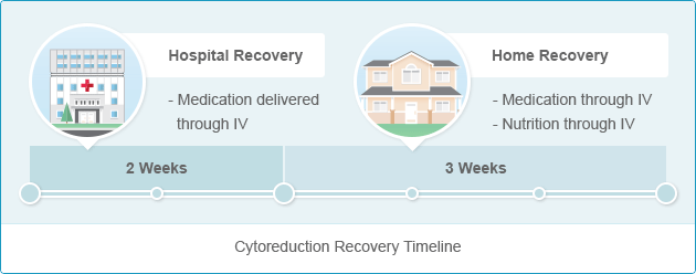 Recovery timeline for Cytoreductive Surgery