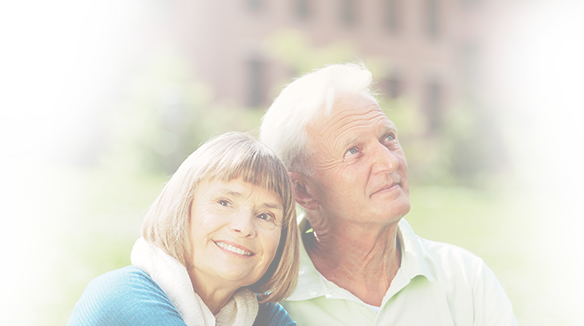 Couple learning about mesothelioma treatment