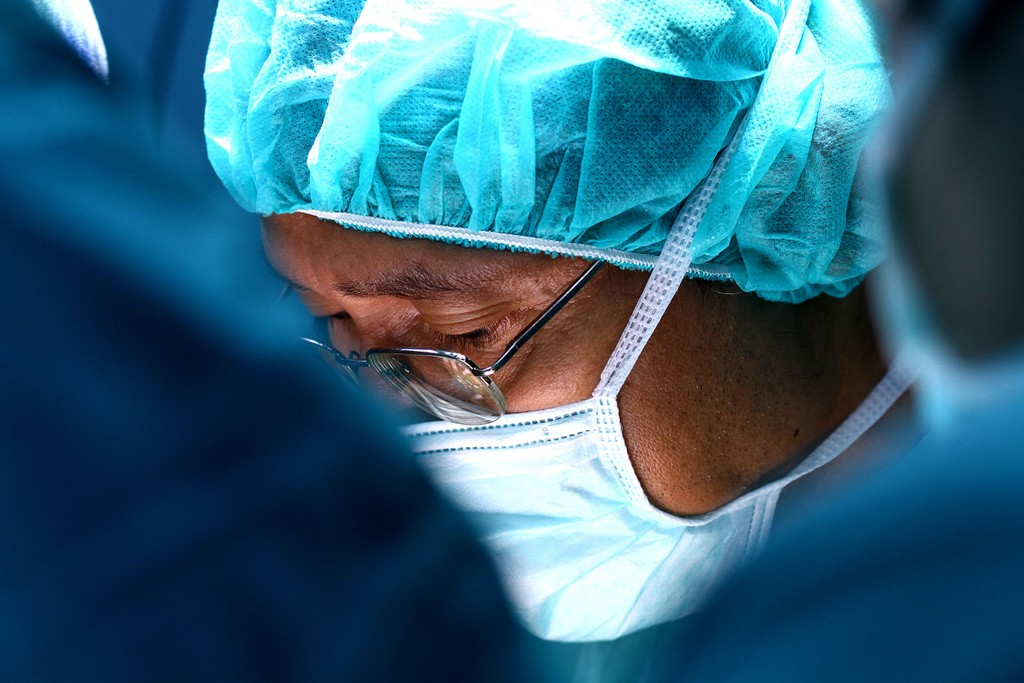 Photograph of a surgeon