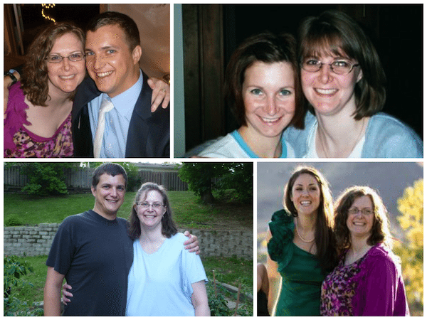 collage of pictures of Jodi Page posing with different people