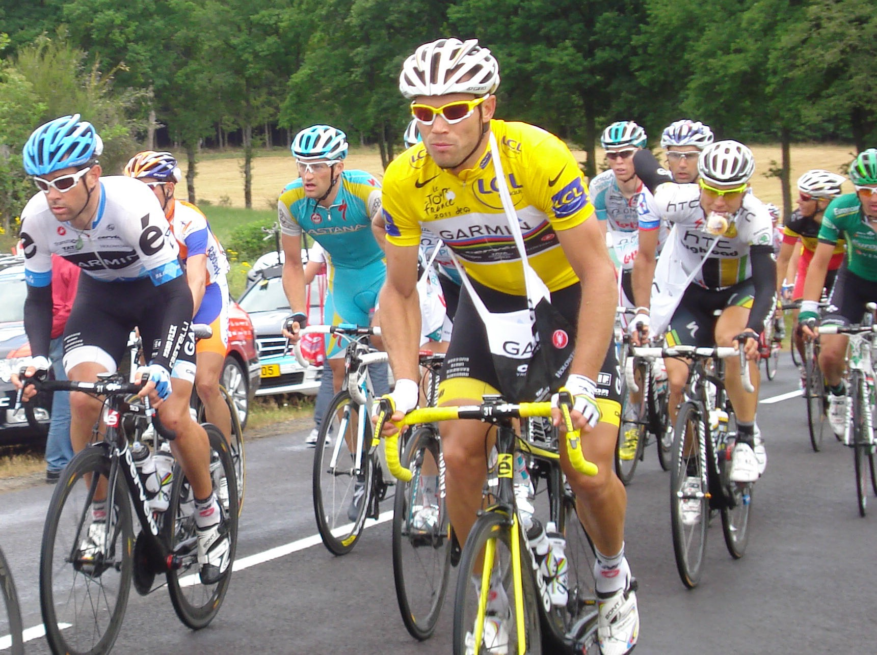 Thor Hushovd riding his bike in the 2011 Tour de France