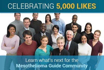celebrating 5000 likes: Learn what's next for the MesotheliomaGuide community