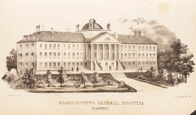 drawing of Massachusetts General Hospital