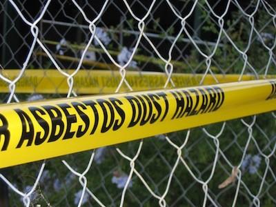 Asbestos Dust Hazard Sign