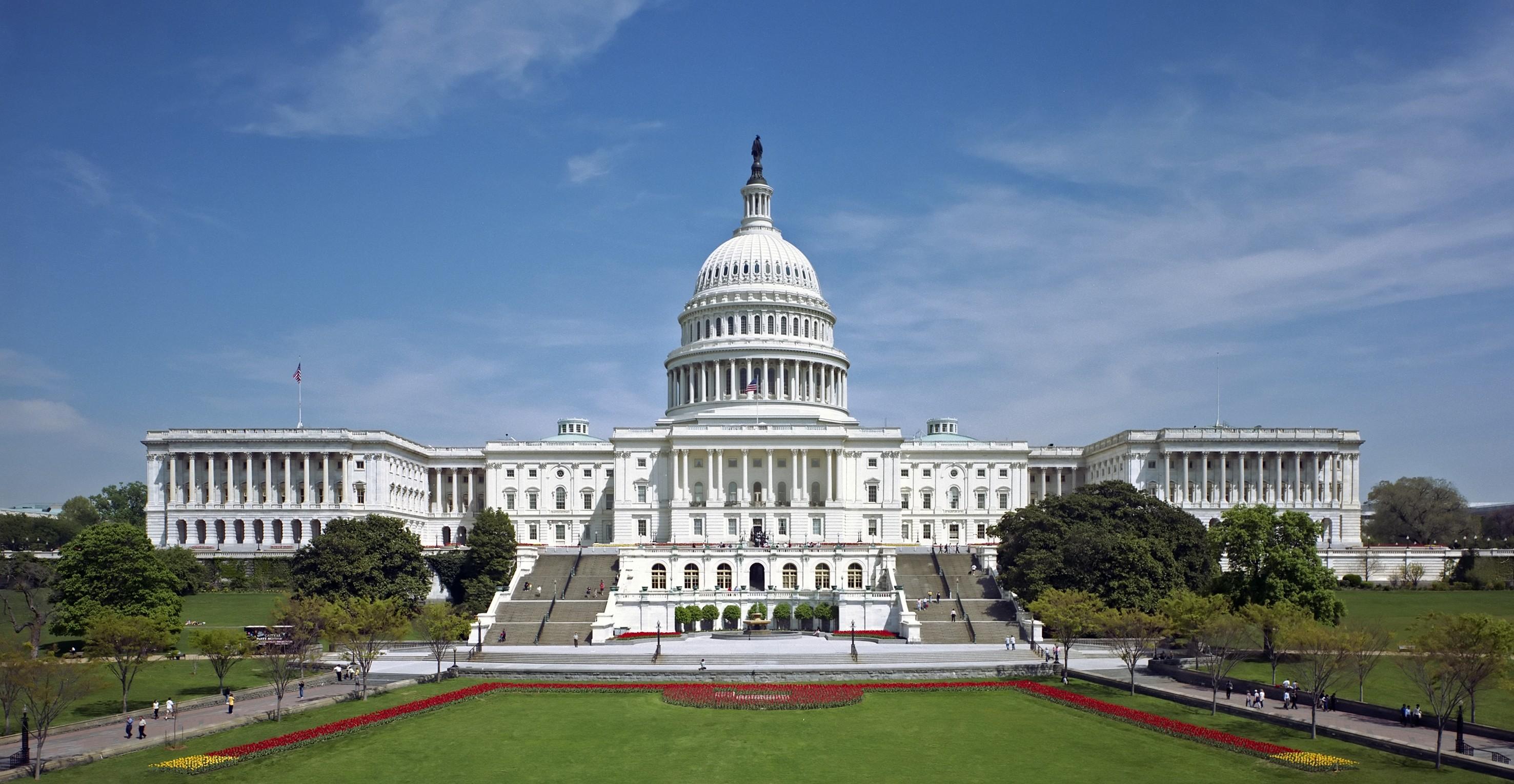US Capital building on a sunny day