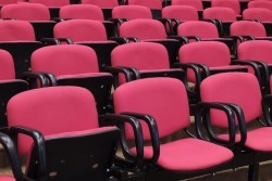 rows and rows of folding chairs