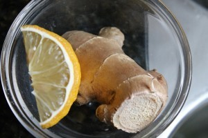 ginger and lemon in a bowl