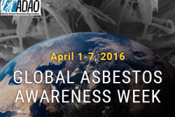 global asbestos awareness week 2016
