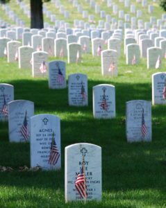 graves at arlington on memorial day