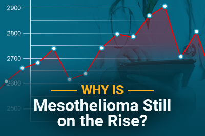 Why Is Mesothelioma Still on the Rise? with chart in the background