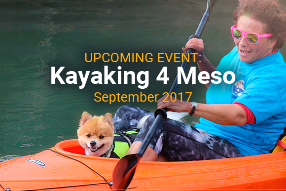 Woman kayaking with dog in Kayaking 4 Meso event (image from the Daily Gazette)