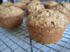 Image of Carrot Muffins on a cooling rack.
