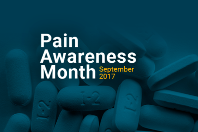 Pills with title: Pain Awareness Month September 2017