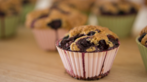 Image of Wheat Germ Muffins with Blueberries