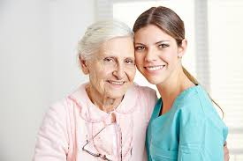 Image of someone with their caregiver.