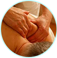 Image of someone getting a back massage.