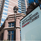 MD Anderson Cancer Center exterior and sign
